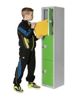 Elite Three Door School Locker