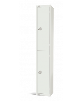 Elite White Two Door Compartment Locker