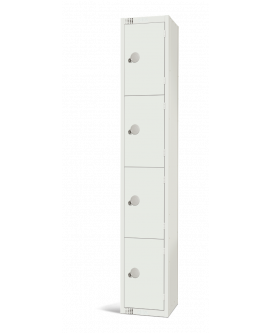 Elite White Four Door Compartment Locker