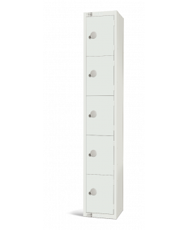 Elite White Five Door Compartment Locker
