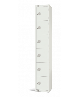 Elite White Six Door Compartment Locker