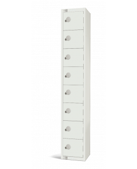 Elite White Eight Door Compartment Locker