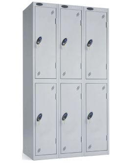 Probe Two Door Compartment Lockers Nest Of 3