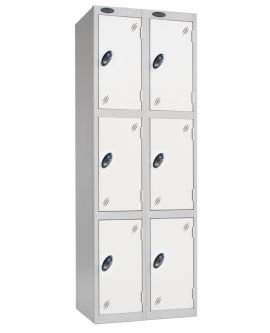Probe Three Door Compartment Lockers Nest Of 2