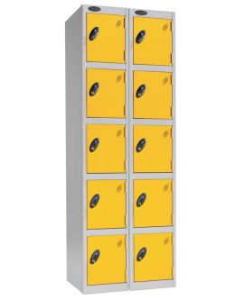 Probe Five Door Compartment Lockers Nest Of 2