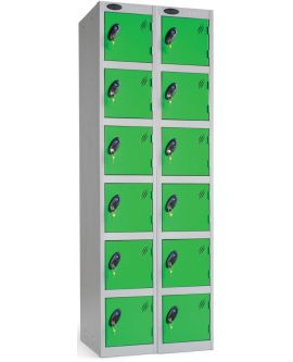 Probe Six Door Compartment Lockers Nest Of 2