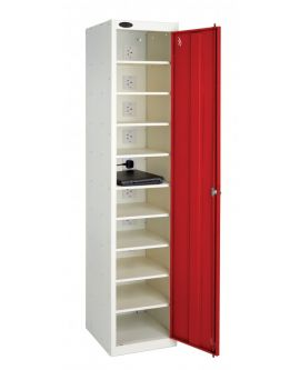 Single Door 10 Shelf Laptop Locker