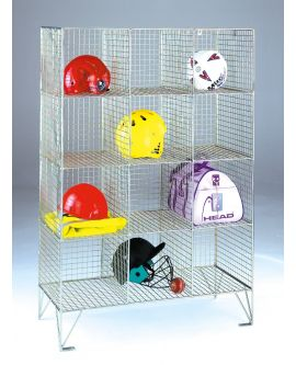 Wire Mesh Personal Effect Lockers Without Doors