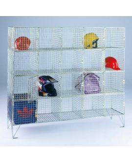 Wire Mesh Personal Effect Lockers With Doors