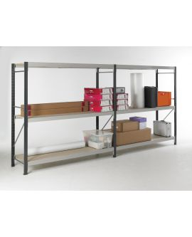Longspan Shelving - Galvanised Shelves