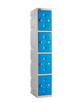 Ultrabox 4 Compartment Plastic Locker
