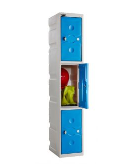 Ultrabox Plus 3 Compartment Plastic Locker