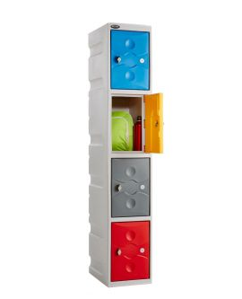 Ultrabox Plus 4 Compartment Plastic Locker