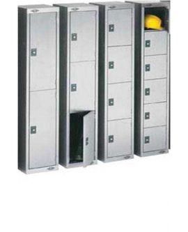 Stainless Steel Four Door Compartment Lockers