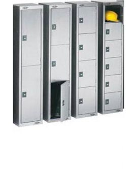 Stainless Steel Three Door Compartment Lockers