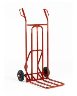 Industrial Quality Range Of Sack Trucks, Having Solid Tyres With Folding Toe