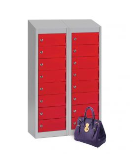 Low 8 Compartment Wallet Locker With Sloping Top