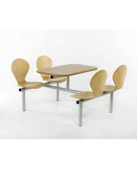 Wooden Polished Seat Canteen Seating Units Model DL/CU15