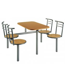 Wooden Polished Seat Canteen Seating Units Model DL/CU24