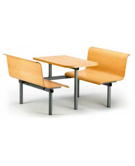 Wooden Polished Seat Canteen Seating Units Model DL/CU40