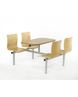 Wooden Polished Seat Canteen Seating Units Model DL/CU50