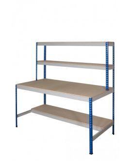 Rivet Work Station With Half Depth Lower Shelf