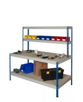 Rivet Work Station With Full Depth Lower Shelf