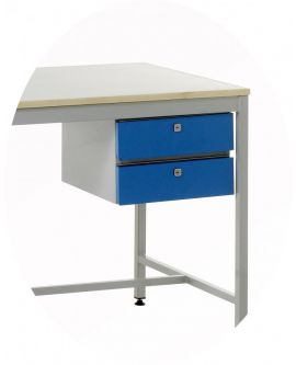 Accessories To Suit Standard Duty Work Benches - 2 Drawer Unit