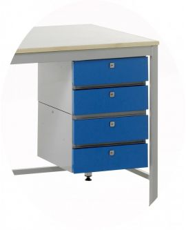 Accessories To Suit Standard Duty Work Benches - 4 Drawer Unit