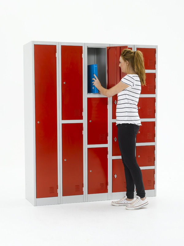 Compartment Lockers make an efficient use of space as they allow multiple users in the same footprint of space.